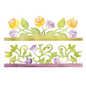 Sizzix Sizzlits - Card Edges - Botanical and Rosegardens
