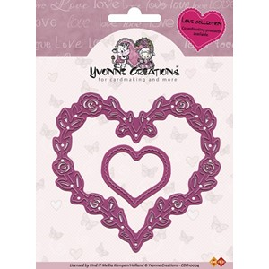 Cut & emboss die 'Love hearts'