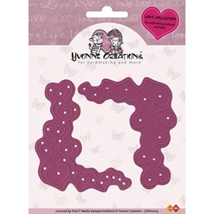 Cut & emboss die 'Love Corners'