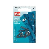Prym hekter - 9,5 mm - brass black/3 stk