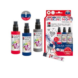 Marabu Fashion Spray set - Sparkling nights