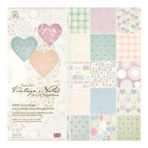 "Papermania - Vintage Notes - 12""x12"" - 32 ark - 160 gsm"