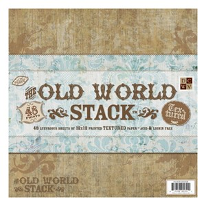 Premium Stacks - The Old World - 48 Textured cardstock