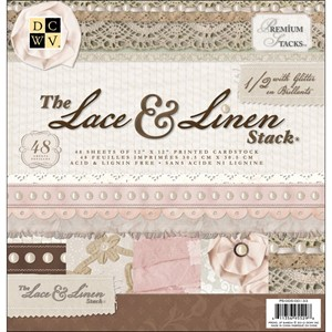 "Premium Stacks - Lace & Linen - 48 ark - 12""x12"""