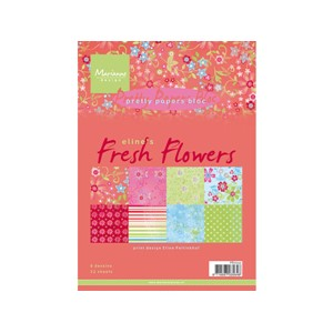 Pretty Papers bloc - Fresh Flowers - 14,8 x 21 cm