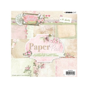 Studiolight Paper Pad - 15x15 - Lovely Moments 123