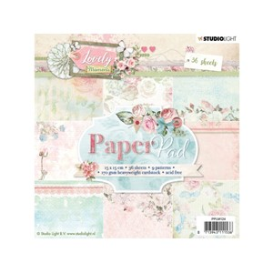 Studiolight Paper Pad - 15x15 - Lovely Moments 124