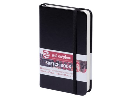 Art Creation Skissebok m/strikk - 140 g - sort