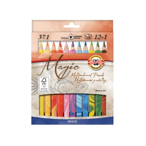 Koh-I-Noor Magic Multicolour - Sett med 12+1