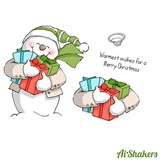 AI-Shakers Card Cling Stamps - Snowman Shaker