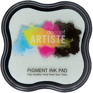 Artiste Pigment Ink Pad - Clear emboss