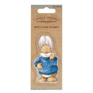 Country Companions - mini clear stamps - Rabbit / Kanin