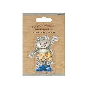 Country Companions - mini clear stamps - Frog/ Frosk